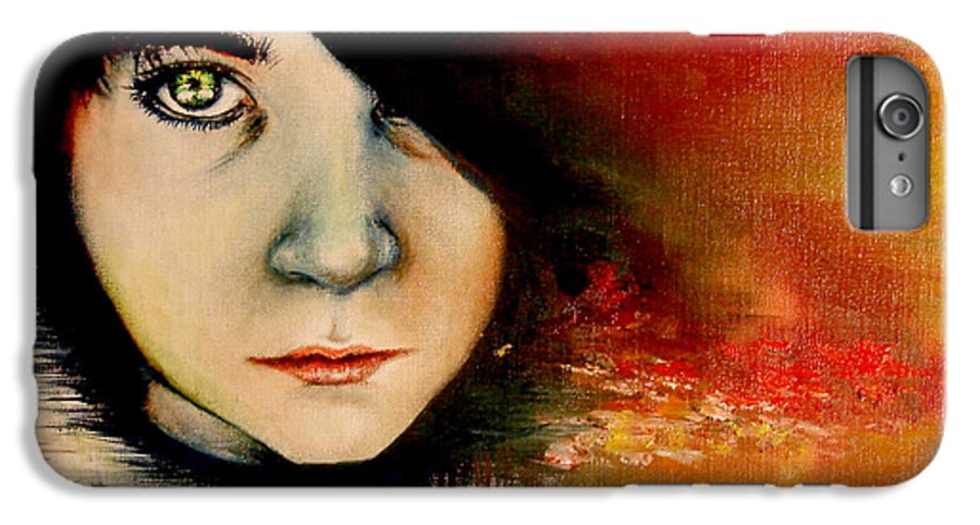 Sunset IPhone 6s Plus Case featuring the painting Regaining Strenght by Freja Friborg