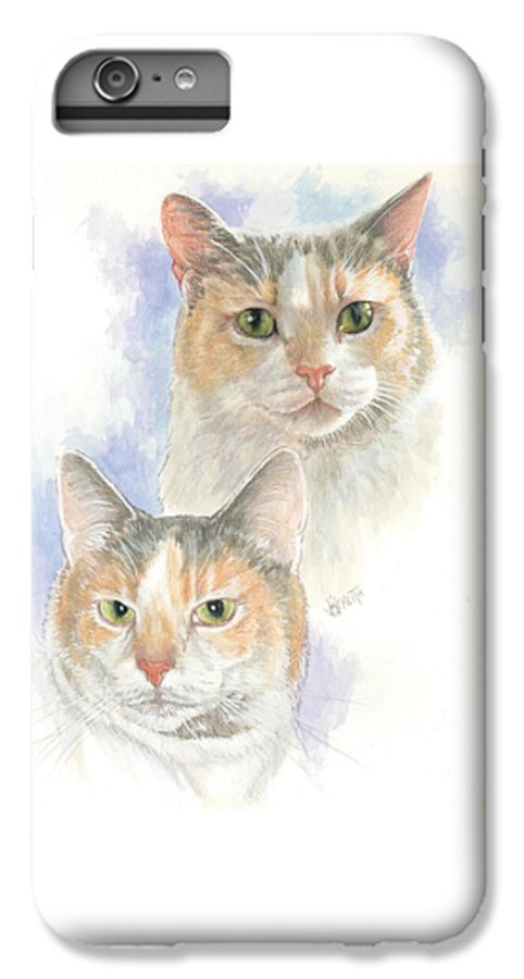 Domestic Cat IPhone 6s Plus Case featuring the mixed media Reno by Barbara Keith