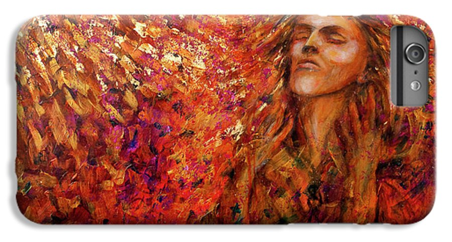 Sun IPhone 6s Plus Case featuring the painting Resonance by Nik Helbig