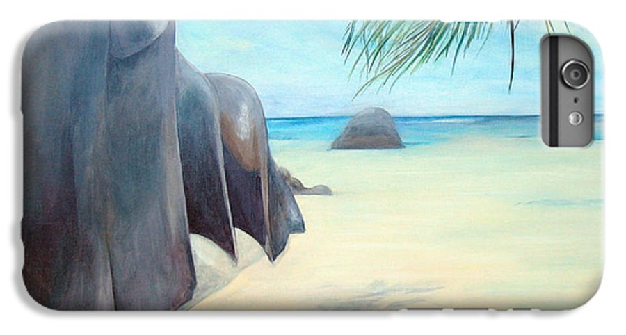 Paysage IPhone 6s Plus Case featuring the painting Reve by Muriel Dolemieux