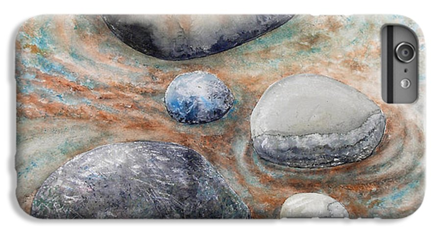 Abstract IPhone 6s Plus Case featuring the painting River Rock 2 by Valerie Meotti