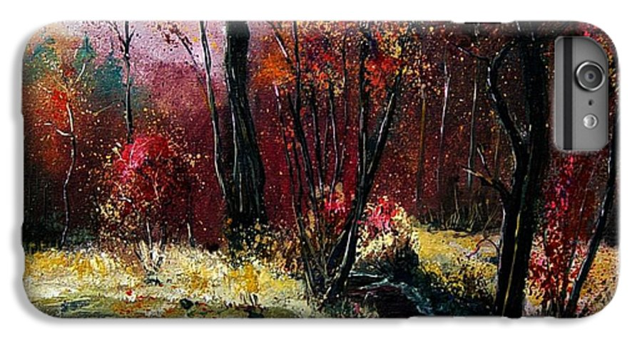 River IPhone 6s Plus Case featuring the painting River Ywoigne by Pol Ledent