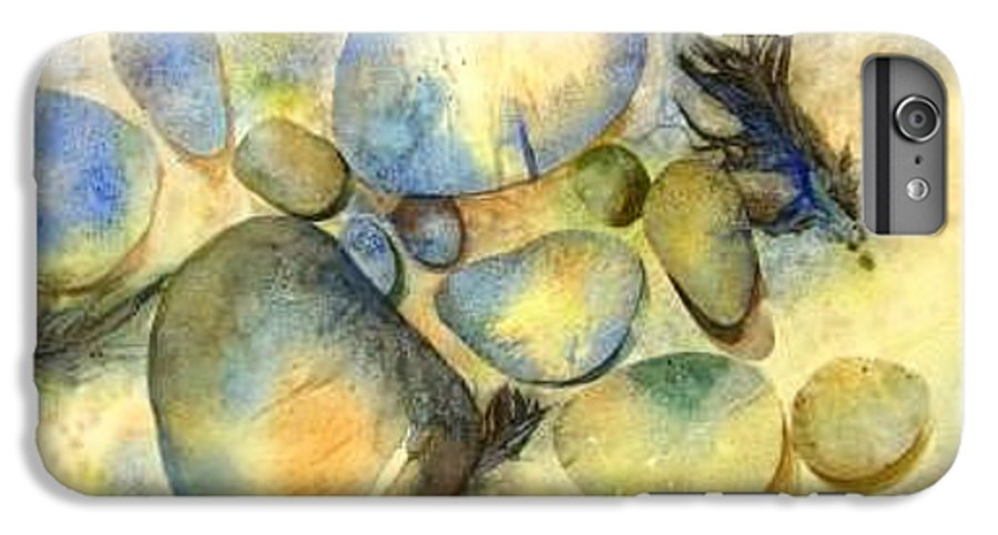 Rocks And Feathers IPhone 6s Plus Case featuring the painting Rocks And Feather by Marlene Gremillion