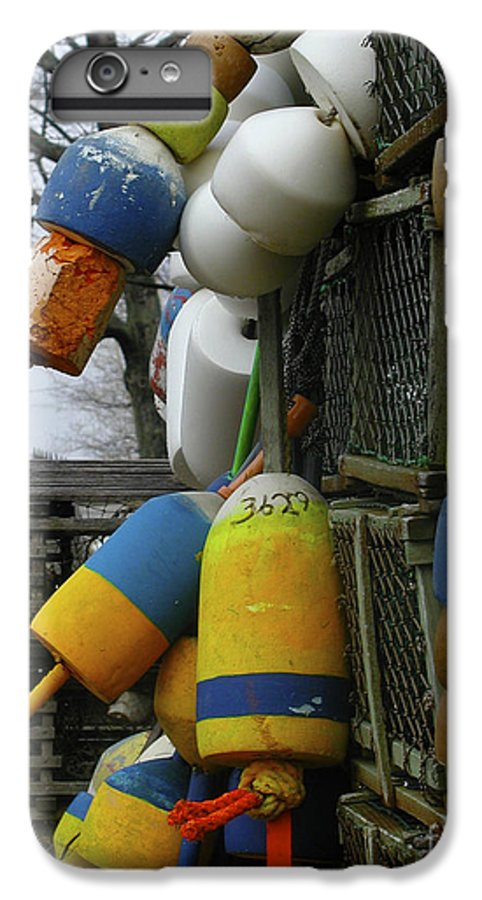 Lobster IPhone 6s Plus Case featuring the photograph Roger's Buoys by Faith Harron Boudreau