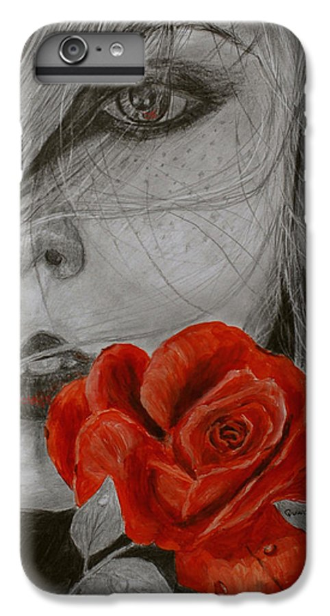 Woman IPhone 6s Plus Case featuring the painting Rose Kisses by Quwatha Valentine