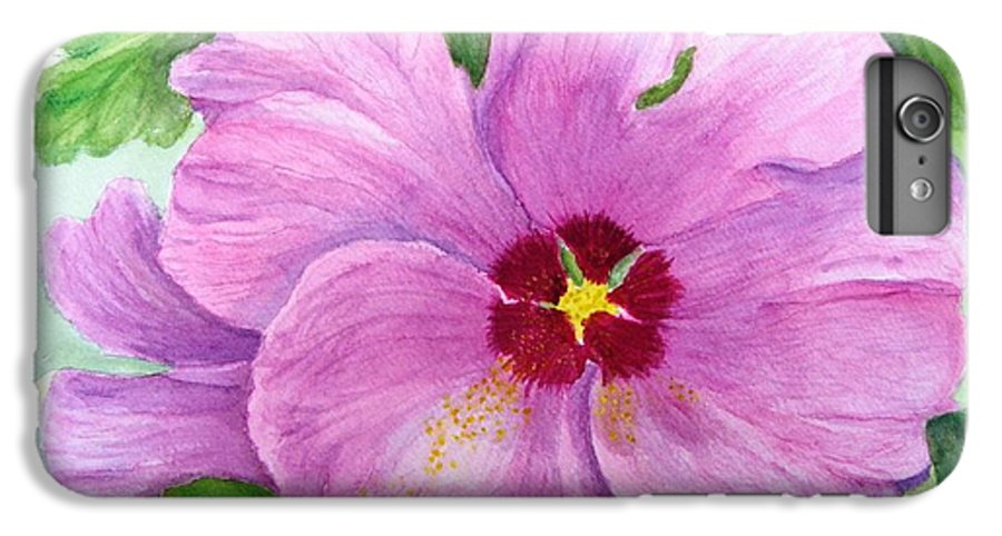 Watercolour IPhone 6s Plus Case featuring the painting Rose Of Sharon by Peggy King