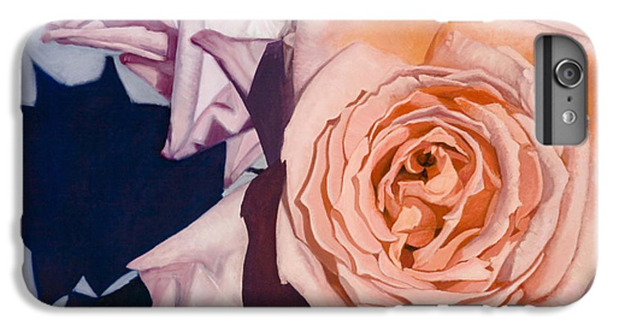 Roses IPhone 6s Plus Case featuring the painting Rose Splendour by Kerryn Madsen-Pietsch