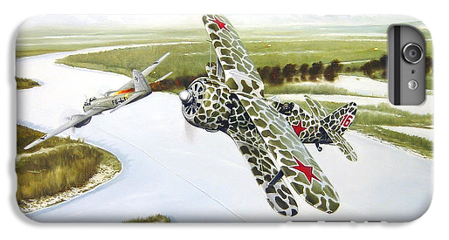 Aviation IPhone 6s Plus Case featuring the painting Russian Roulette by Marc Stewart