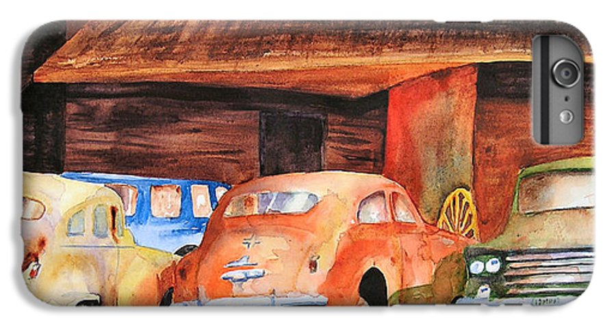 Car IPhone 6s Plus Case featuring the painting Rusting by Karen Stark