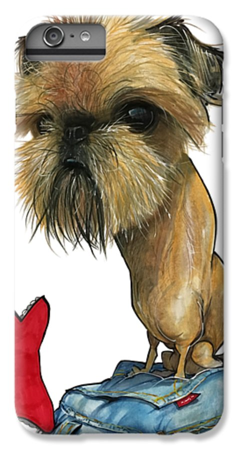 Brussels Griffon IPhone 6s Plus Case featuring the drawing Salavarria 3149 by John LaFree