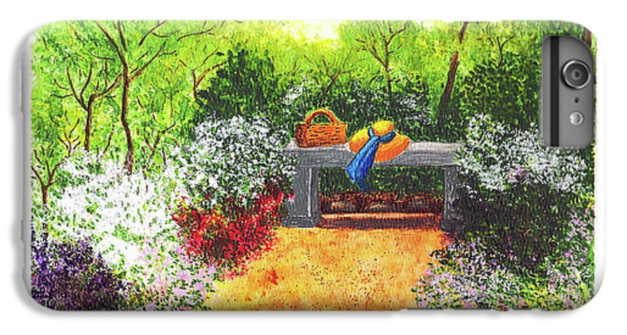 Garden Painting IPhone 6s Plus Case featuring the painting Sanctuary by Patricia Griffin Brett