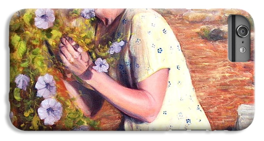 Realism IPhone 6s Plus Case featuring the painting Santa Fe Garden 2  by Donelli DiMaria