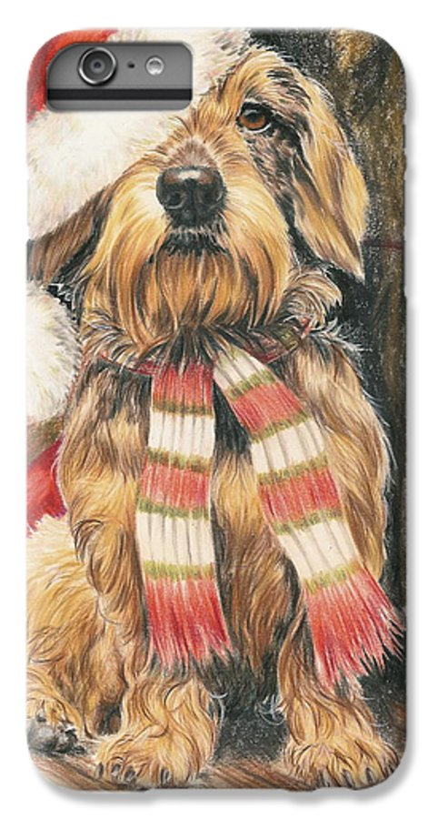Hound Group IPhone 6s Plus Case featuring the drawing Santas Little Yelper by Barbara Keith