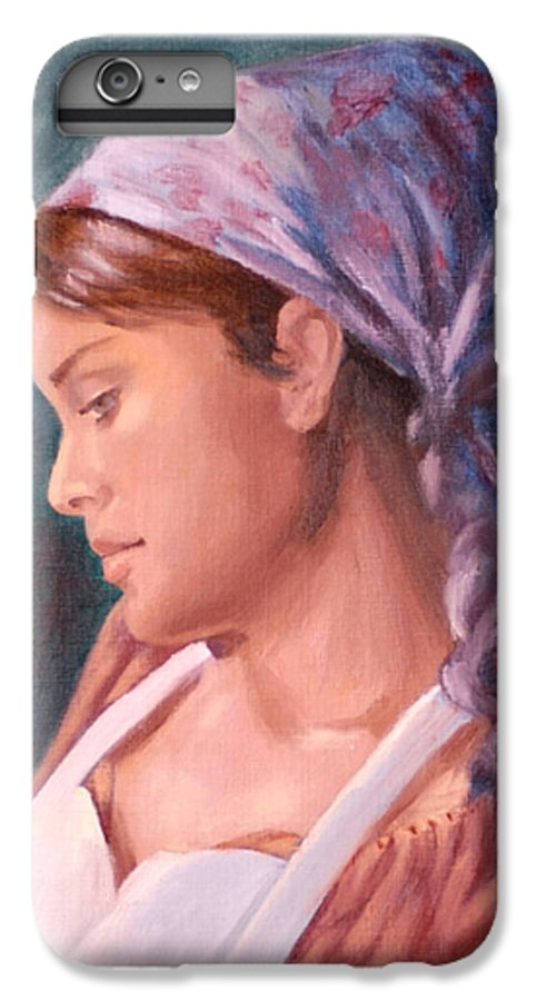 Maid IPhone 6s Plus Case featuring the painting Sarah The Kitchen Maid After Johnnie Liliedahl by Quwatha Valentine