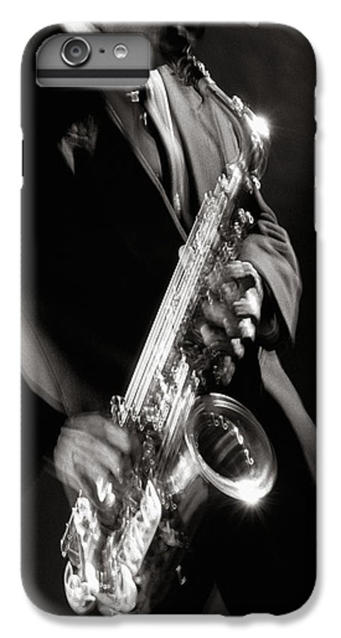 Sax IPhone 6s Plus Case featuring the photograph Sax Man 1 by Tony Cordoza
