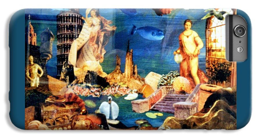 Fantasy IPhone 6s Plus Case featuring the painting Sea Garden by Gail Kirtz