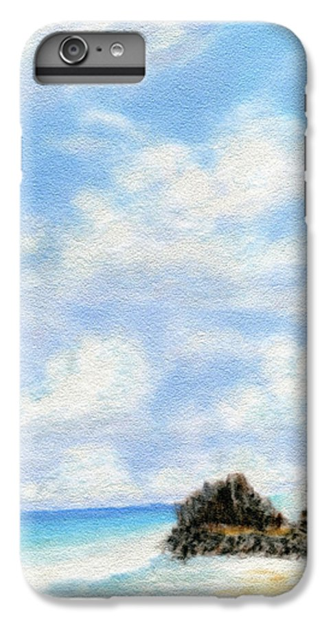 Coastal Decor IPhone 6s Plus Case featuring the painting Secret Beach Sky by Kenneth Grzesik