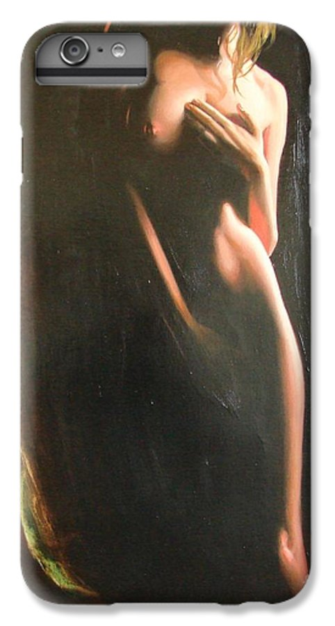 Art IPhone 6s Plus Case featuring the painting Secrets by Sergey Ignatenko