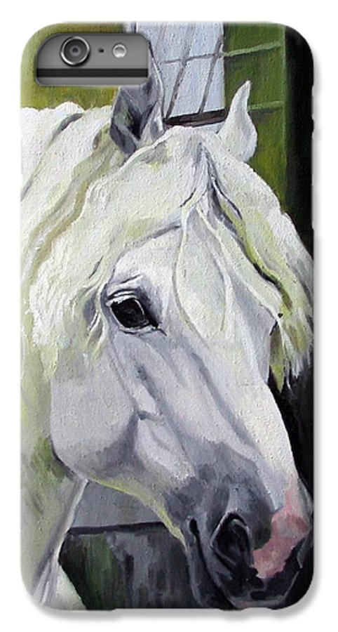 Horse IPhone 6s Plus Case featuring the painting Shadowfax by Nel Kwiatkowska