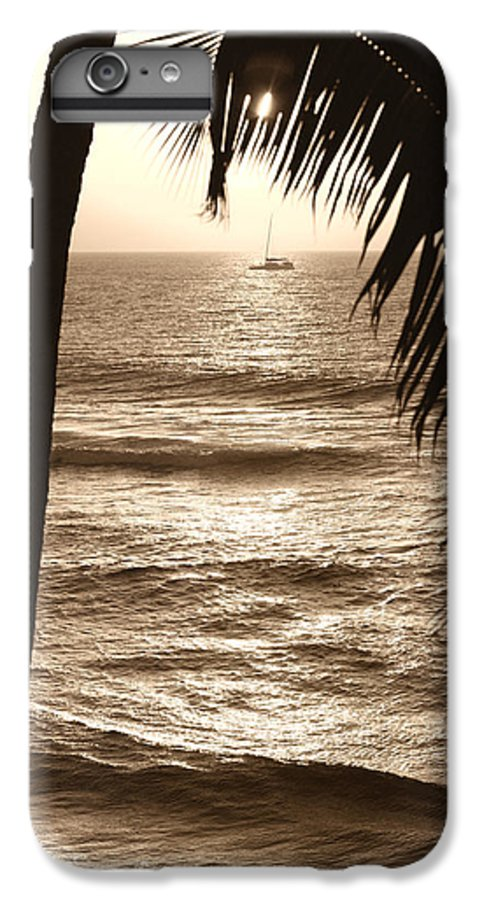 Hawaii IPhone 6s Plus Case featuring the photograph Ship In Sunset by Marilyn Hunt