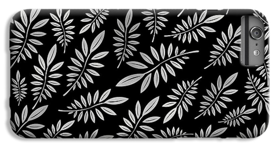 Pattern IPhone 6s Plus Case featuring the digital art Silver Leaf Pattern 2 by Stanley Wong