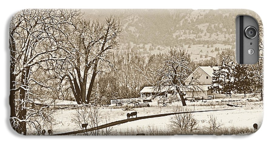 Landscape IPhone 6s Plus Case featuring the photograph Simpler Times by Marilyn Hunt