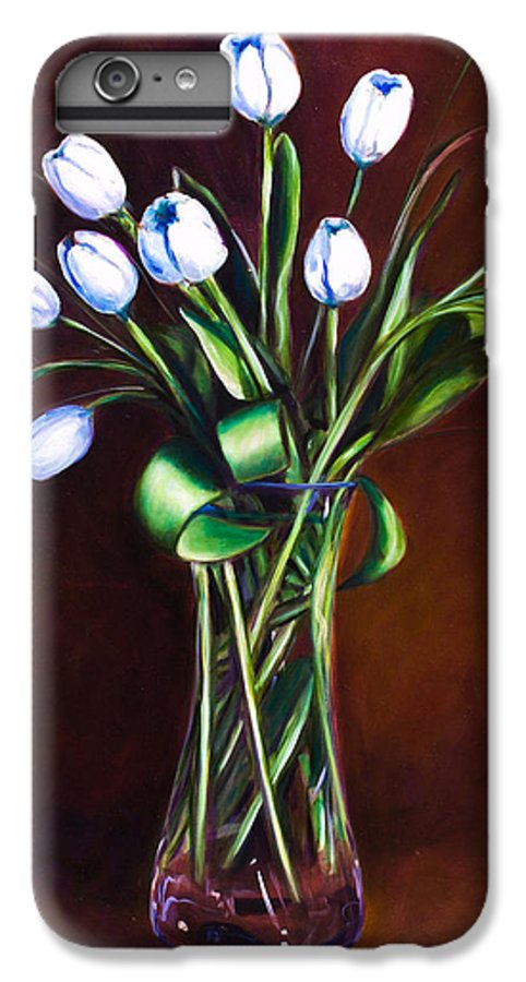 Shannon Grissom IPhone 6s Plus Case featuring the painting Simply Tulips by Shannon Grissom