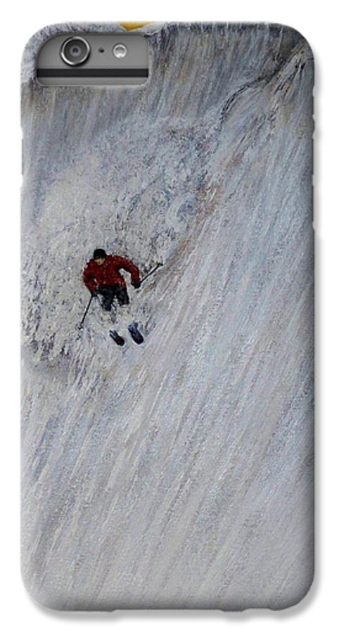 Landscape IPhone 6s Plus Case featuring the painting Skitilthend by Michael Cuozzo
