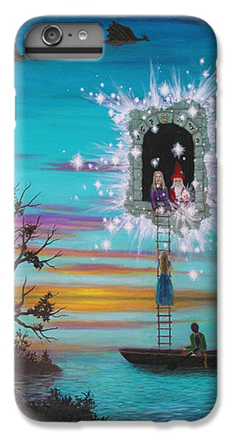Fantasy IPhone 6s Plus Case featuring the painting Sky Window by Roz Eve