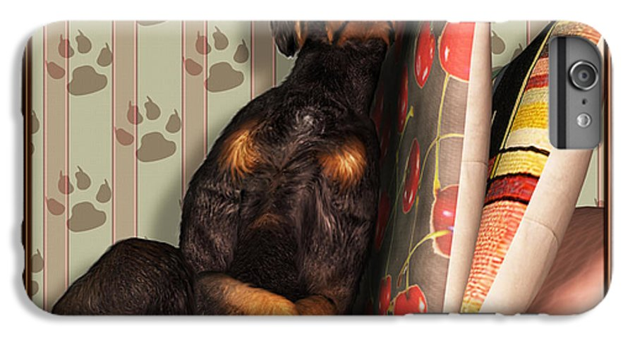 Dog IPhone 6s Plus Case featuring the digital art Sleeping I by Nik Helbig