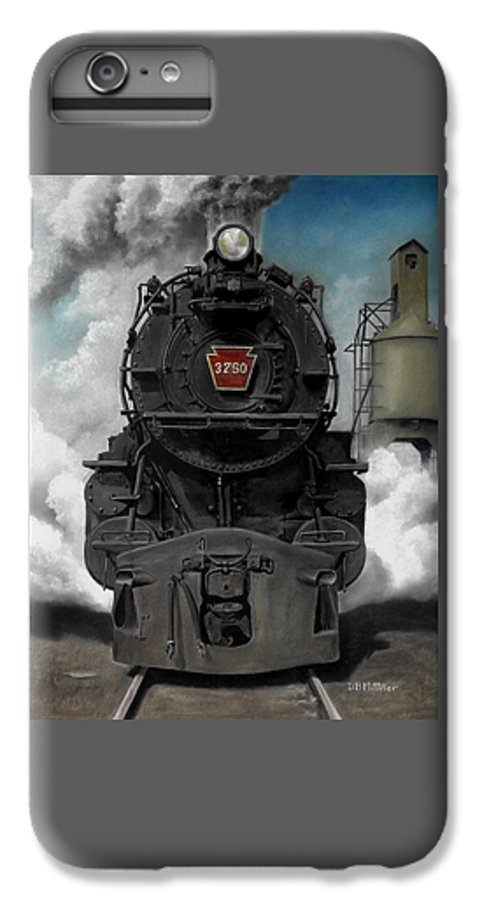 Trains IPhone 6s Plus Case featuring the painting Smoke And Steam by David Mittner