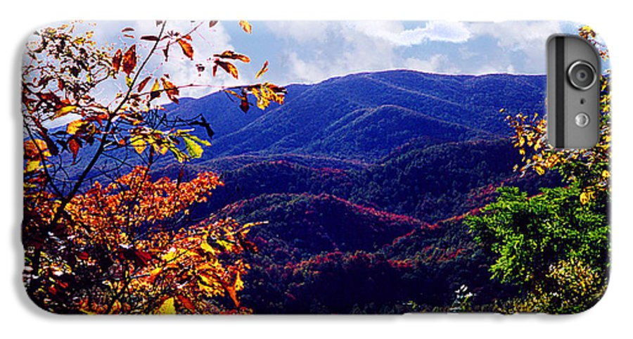 Mountain IPhone 6s Plus Case featuring the photograph Smoky Mountain Autumn View by Nancy Mueller