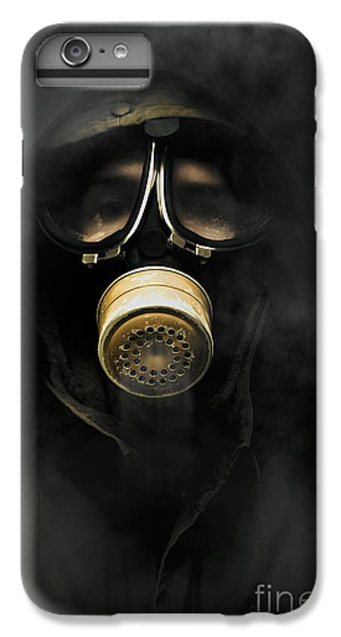 Gas IPhone 6s Plus Case featuring the photograph Soldier In Gas Mask by Jorgo Photography - Wall Art Gallery