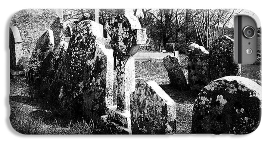 Ireland IPhone 6s Plus Case featuring the photograph Solitary Cross At Fuerty Cemetery Roscommon Irenand by Teresa Mucha