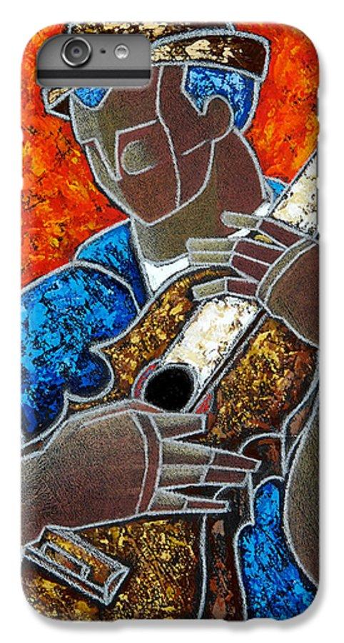 Puerto Rico IPhone 6s Plus Case featuring the painting Solo De Cuatro by Oscar Ortiz