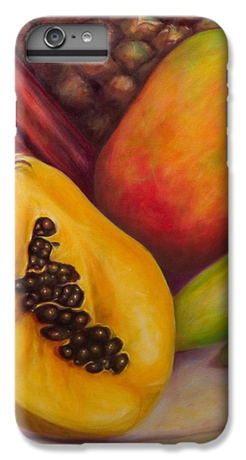 Tropical Fruit Still Life: Mangoes IPhone 6s Plus Case featuring the painting Solo by Shannon Grissom