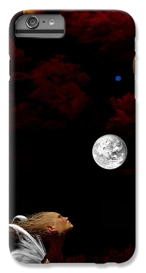 Moon IPhone 6s Plus Case featuring the digital art Sometimes I Wonder by Ruben Flanagan