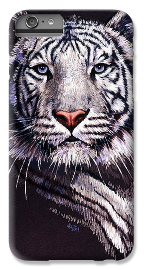 Tiger IPhone 6s Plus Case featuring the drawing Sorcerer by Barbara Keith