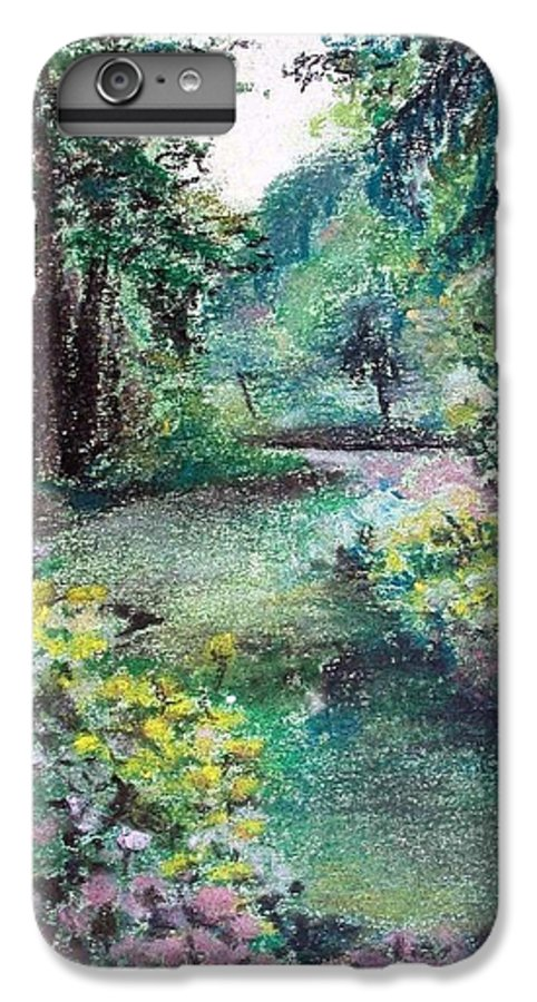 Landscape IPhone 6s Plus Case featuring the drawing Sous-bois by Muriel Dolemieux