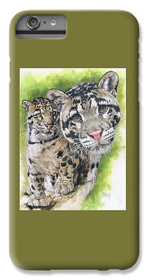 Clouded Leopard IPhone 6s Plus Case featuring the mixed media Sovereignty by Barbara Keith