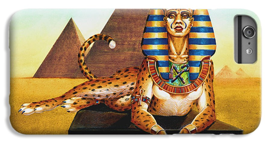 Cat IPhone 6s Plus Case featuring the painting Sphinx On Plinth by Melissa A Benson