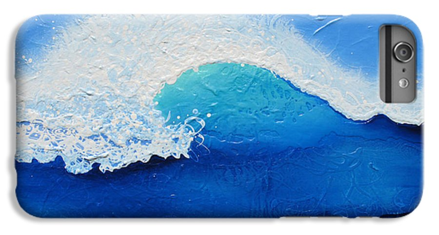 Contemporary IPhone 6s Plus Case featuring the painting Spiral Wave by Jaison Cianelli