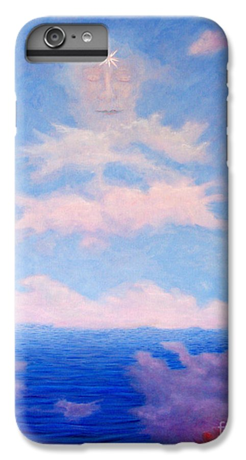 Buddha IPhone 6s Plus Case featuring the painting Spirit Of The Lake by Brian Commerford
