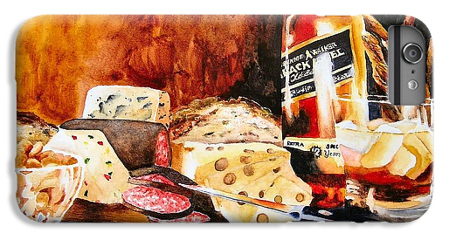 Scotch IPhone 6s Plus Case featuring the painting Spirited Indulgences by Karen Stark
