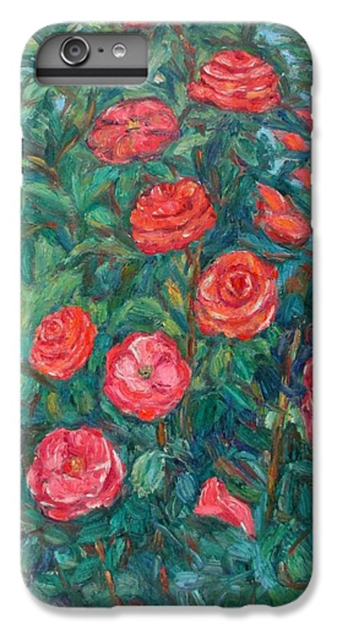 Rose IPhone 6s Plus Case featuring the painting Spring Roses by Kendall Kessler
