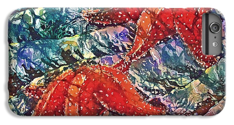Stars IPhone 6s Plus Case featuring the painting Starfish 2 by Sue Duda