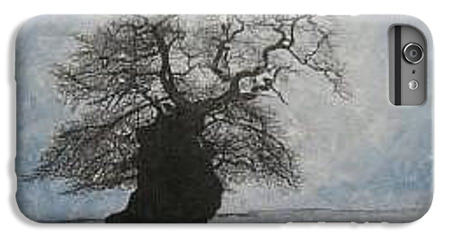 Silhouette IPhone 6s Plus Case featuring the painting Stilton Silhouette by Leah Tomaino