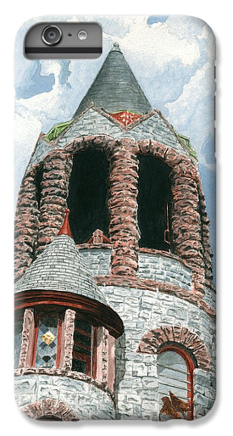 Church IPhone 6s Plus Case featuring the painting Stone Church Bell Tower by Dominic White