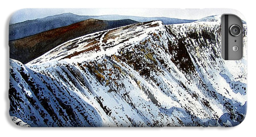 Helvellin IPhone 6s Plus Case featuring the painting Striding Edge Leading To Helvellin Sumit by Paul Dene Marlor