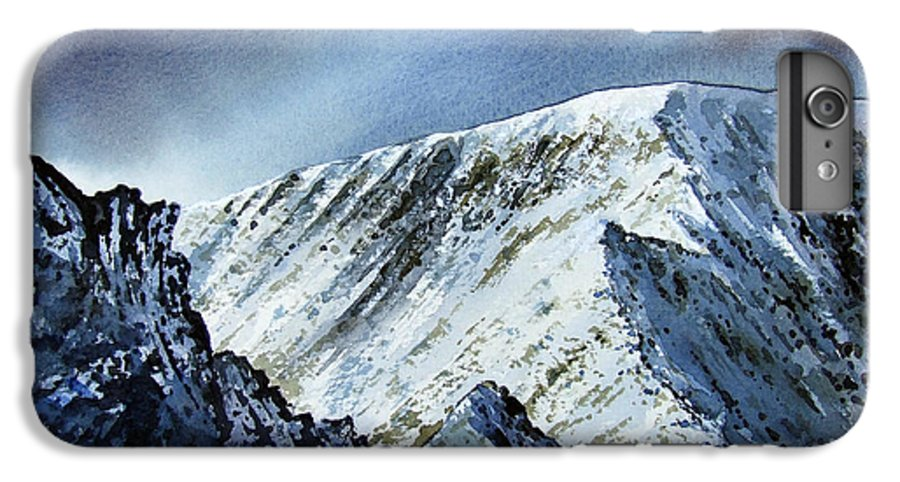 Mountain IPhone 6s Plus Case featuring the painting Striding Edge On Helvellin by Paul Dene Marlor